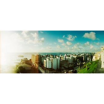 Byggnader på kusten Pelourinho Salvador Bahia Brasilien affisch Skriv
