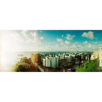 Gebäude an der Küste Pelourinho-Salvador-Bahia-Brasilien-Plakat-Druck