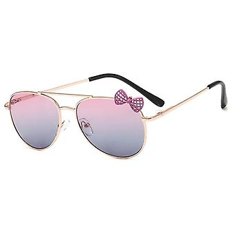 الفتيات القوس النظارات الشمسية نظارات الإطار المعدني، نظارات الطرف نظارات في الهواء الطلق
