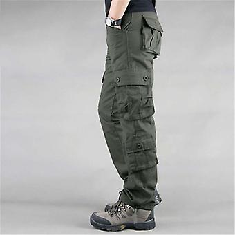 Men's Multi Pockets Military Style Tactical Pants Cotton Outwear Trousers