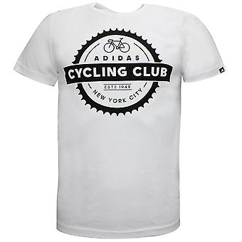 Adidas Cycling Club NYC Miesten T-paita Ajanviete Valkoinen Tee S19804
