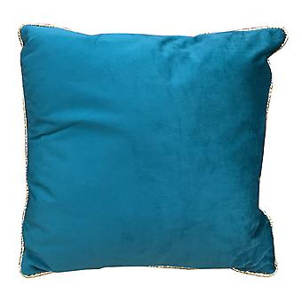 Sea Blue Velvet Cushion