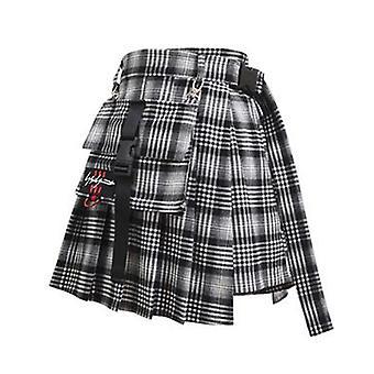 Preppy Style Women Spring-summer High Waist Skirt