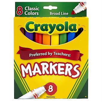 Crayola Original Formel Marker, konische Spitze, 8 klassische Farben