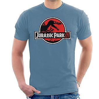 Jurassic Park weiß Umriss Kralle Marken Logo Männer's T-Shirt
