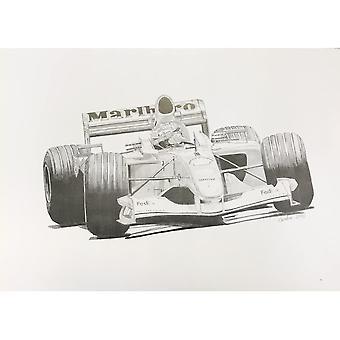 Larrini Michael Schumacher Print Black & White