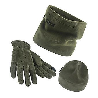 Sciarpa, cappello, set guanti, tre pezzi inverno caldo pile Slouchy Abbigliamento berretto