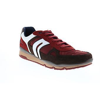 Geox U Sandford Herren Braun Leinwand Euro Sneakers Schuhe