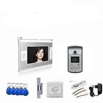 نظام التحكم في الوصول إلى نظام الاتصال الداخلي الفيديو، كاميرا الباب، Rfid قفل الباب الكهربائية،