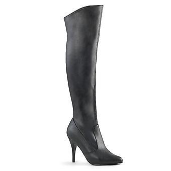 Pleaser Mujeres'botas VANITY-2013 Blk Faux Leather