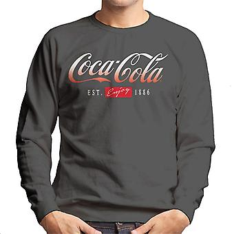 Coca Cola Gradient Logo Men's Sweatshirt