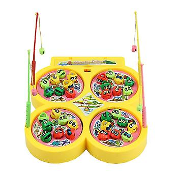 Electric Rotating Magnetic Yellow Go Fishing Game