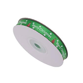 Christmas Ribbons Printed Xmas Tree  - Snowflake & Xmas Tree