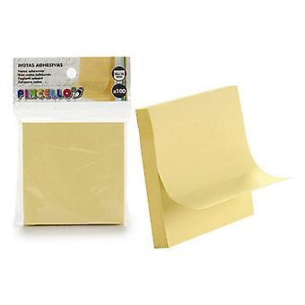 Gule gule noter (76 x 76 mm) (100 uds)