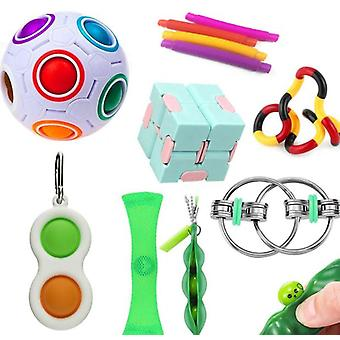 Sensory Fidget Toys Set 13 Pack Stress Relief And Anti-anxiety Hand Toys For Kids And Adults Calming Toys