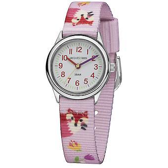 JACQUES FAREL Kids Wristwatch Analog Quartz Girl Textile Ribbon HCC 300 Fox