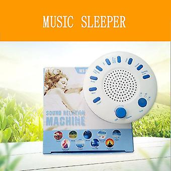 Music sleeping instrument sound relaxation therapeutic machine dormir sleep helper with 9 high quality nature music sleeping aid