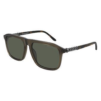 Alexander Mcqueen AM0321S 001 Schwarz/Grau Sonnenbrille