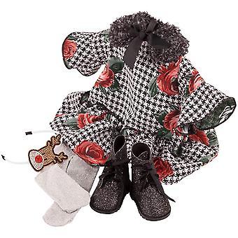 Wokex 3403237 Kombination X-Mas Rose - Puppenbekleidung-Set Gr. XL - 6-teiliges Bekleidungs- und