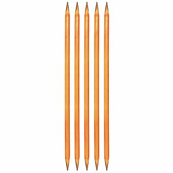 "KnitPro Trendz: סיכות סריגה: פעמיים הסתיים: סט של חמש: 20 ס""מ x 4.00mm"