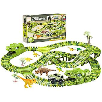 Racebaan Dinosaurus - 269-delig met 2 tunnels