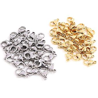 Stainless Steel Gold Lobster Clasp Hooks For Necklace&bracelet Chain