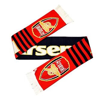 Arsenal FC Unisex Adults Stripe Scarf