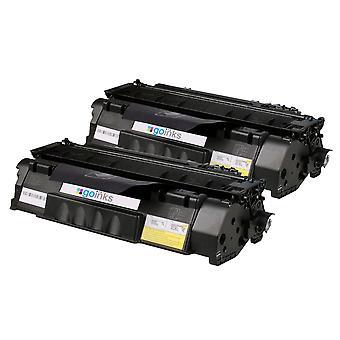 2 cartucce toner compatibili con il nero Go Inks sostituisce la serie HP CF280A (80A) *Nuovo design brevettato*