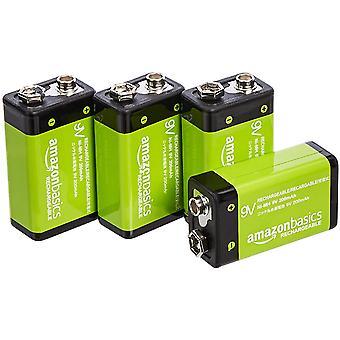 FengChun - 9-V-Zellen, wiederaufladbare Batterien, 200 mAh NiMH, 4er-Packung