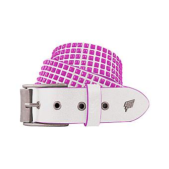 Lowlife Devoid Leather Belt in White