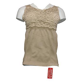 SANKOM Women's Bra Tank Shapewear Beige A422103