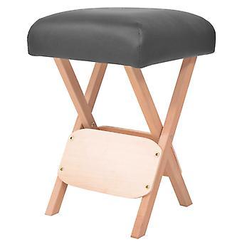 vidaXL Massage-Klapphocker mit 12 cm Dickem Sitz Schwarz