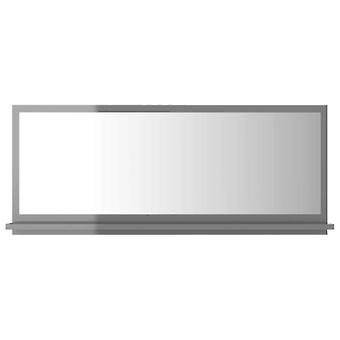 vidaXL Badspiegel Hochglanz-Grau 90x10,5x37 cm Spanplatte