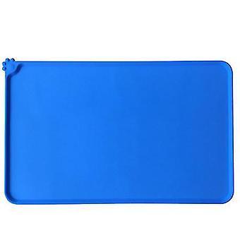 S 47 * 30cm الحيوانات الأليفة الزرقاء سيليكون placemats، للماء، وعدم زلة وتسرب واقية من placemats للقطط وال كلاب، الحصير الحيوانات الأليفة سيارة az19868
