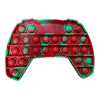 Stuff Certified® Pop It - Washed Fidget Anti Stress Toy Bubble Toy Silicone Controller Green-Red