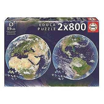 Puzzle Planet Earth Educa Ø 59 cm (2 x 800 pcs)