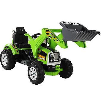 Elektriskt styrd traktor grön - med tiltskopa
