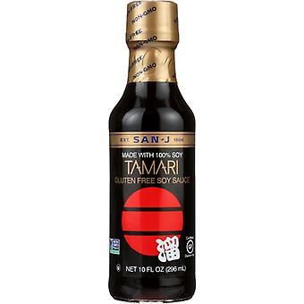 San J Sauce Soy Tamari Premium, Case of 6 X 10 Oz