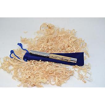 Trä fontän penna fontän penna med skruvlock kulspetspenna lagerförd Hornbeam handgjord skrivinstrument gåva unik handgjord