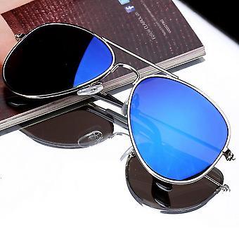 Fashion Boys Girls Kids Óculos de Sol Espelho Lente Reflexiva Viajante Óculos de Sol
