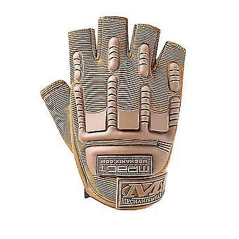 Vonkajšie športové lezecké fitness rukavice na polovičný prst cyklistické taktické ochranné rukavice (Khaki)