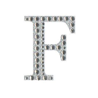 5cm Klar Selvklebende Diamante Bokstaver - F | Diamante Edelstener Utsmykninger