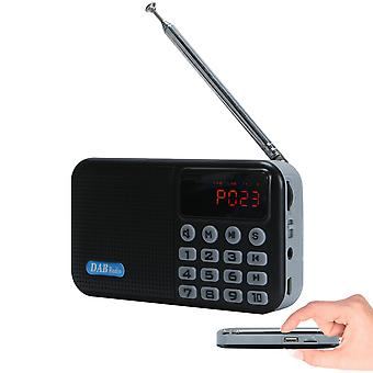 Digitální rádio DAB / DAB+ přenosné s bluetooth reproduktorem FM Rechargeable Battery