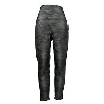DG2 di Diane Gilman Leggings Slim & Sleek Coated Knit Stampato nero 725413