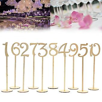 10Pcs/set fashion wedding table number table cards wedding decoration event party supplies home decoration 1-10/ 11-20