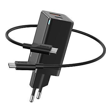 Baseus   USB C- ja USB-pikalaturi   2 tuloa   45w   Incl. USB-C-kaapeli