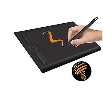 رسومات أقراص الفن الرقمي اللوحي للرسم مع 8192 مستوى القلم ضغط القلم السلبي