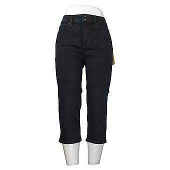 NYDJ Petit pantalon pour femmes Skinny Crop avec fentes latérales noir A377694
