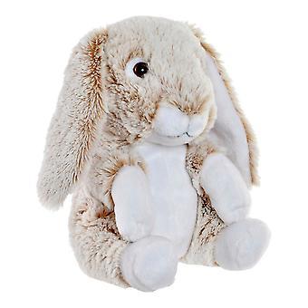 Pörröinen lelu DKD Home Decor Beige Polyester Rabbit (19 x 19 x 25 cm)
