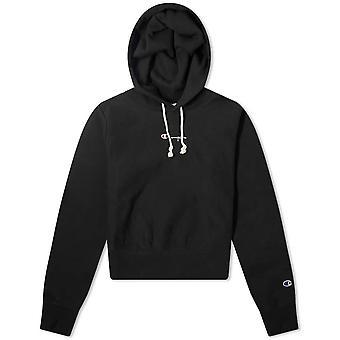 Champion Reverse Weave Cropped Small Script Logo Hooded Sweatshirt 112691KK001 universal all year women sweatshirts
